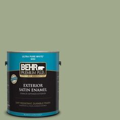BEHR Premium Plus 1-gal. #PMD-36 Mountain Sage Satin Enamel Exterior Paint-940001 - The Home Depot