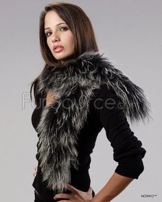 Shop FurSource for the best selection of Boa Fur Scarves. Buy the Mongolian / Tibetan Lamb Fur Scarf - Black & White by FRR with fast same day shipping. White P, Collar And Cuff, Neck Warmer, Lamb, Collars, Fur Coat, Curly, My Style, Fur Scarves