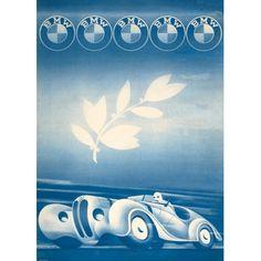 Mille Miglia 1940 - BMW Mille Miglia poster