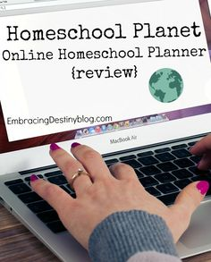 Homeschool Planet Online Homeschool Planner {review} - Embracing Destiny