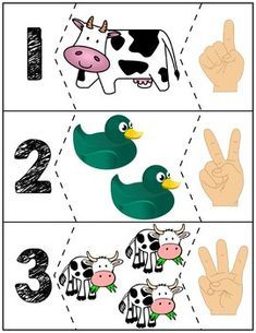 Kids loves the Click Clack Moo Cows That Type book! Here is a set of free educational materials for basic number skills to go with it! Autism Activities, Toddler Learning Activities, Preschool Learning Activities, Kindergarten Activities, Classroom Activities, Kids Learning, Preschool Puzzles, Numbers Preschool, Preschool Worksheets