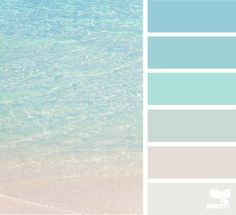 crystal clear i.love.this.website. Colour swatches by theme photo... Flowers, scenery, food, etc. P.S. my beach house will be painted with these colours.
