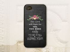 Hey, I found this really awesome Etsy listing at https://www.etsy.com/listing/195932604/bible-verse-exodus-1414-christian-phone