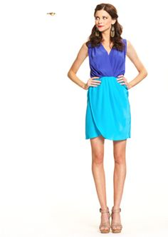 tulip skirt. perfect blues for colorblocking. perfection
