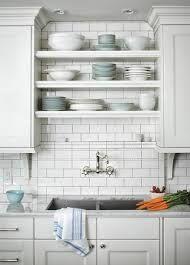 shelves above sink
