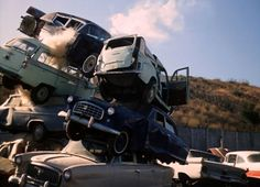 Sell My Junk Car For Top Dollar >> Scrap yard late 1950s. | salvage yards | Wrecking yards, Abandoned cars, Rusty cars