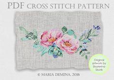Watercolor Flower Bouquet II wedding cross stitch pattern от LittleRoomInTheAttic