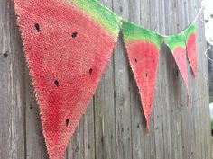 Burlap watermelon banner hand painted on Etsy, $35.00
