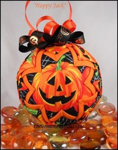 Halloween Quilted Ornament Decoration by OrnamentBoutique on Etsy, $18.00