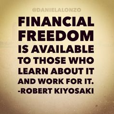 Those who seek shall find Financial Freedom!