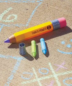 Get ready for summer in a big way! This Giant #chalk pencil is perfect to #draw on the #sidewalk in spring and last all summer long!
