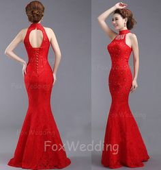 Lace Prom Dress Long Red Prom Dress 2014Long Prom by FoxWedding, $159.00