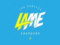 My bitter reaction to the Chargers leaving San Diego for Los Angeles. This is a flip of the recently released LA Chargers monogram.