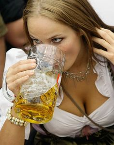Oktoberfest. Munich, Germany Yes we have beautiful women which love beer