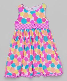 Pink Polka Dot Dress - Toddler & Girls