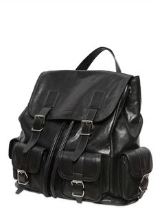 """ROCK"" LEATHER BACKPACK"