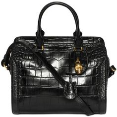 ALEXANDER MCQUEEN | Bags | Stamped Crocodile Leather Small Padlock Zip Around $1,895.00 2015, yes Please!