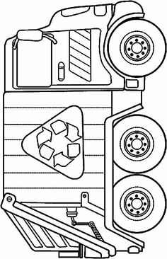 Tcamion poubelle op 10 Dump Truck Coloring Pages For Your Toddlers Preschool Coloring Pages, Truck Coloring Pages, Coloring Pages To Print, Colouring Pages, Coloring Pages For Kids, Coloring Sheets, Coloring Books, Garbage Truck Party, Truck Crafts