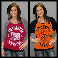 Here is another new arrival - one of Gameday Couture's most popular designs. You will find yourself wearing this comfy dolman all the time!