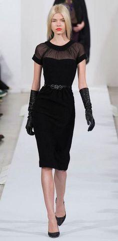Oscar de la Renta RTW F/W 2013  Fonte: fashionising.com  #Runway #Black