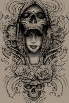 Lady Death Pencil by ESIC.deviantart.com on @DeviantArt