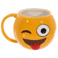 Super Cute Emoji Mug Funny Big Face Emotion Mugs Coffee Mug Office Drinking Cup