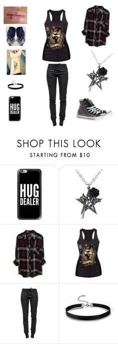 """""""❤️fανє"""" by letbartley-1 ❤ liked on Polyvore featuring Casetify, Rails, Ragdoll and Converse"""