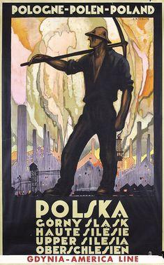 Polish Travel Poster by Stefan Norblin, Polska (Poland). Vintage Travel Posters, Vintage Ads, Art Deco Posters, Poster Prints, Polish Posters, Retro Poster, Kunst Poster, Voyage Europe, Illustrations And Posters