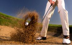 Getting out of a bunker can be tricky.