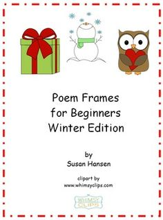 This is a collection of unfinished poem frames. Students are provided a word bank from which to select words to complete each program. The topics are related to the winter season.  For more information or to order this product, just double click on the image above.