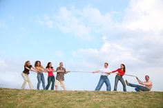 Adult Outdoor games Tug of war, potato sack races, wheel barrow races. Games to play at your buck and doe!! Would be sooo fun!