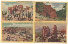 LOT OF 5! Bryce Canyon National Park, UT, Vintage Utah Postcard