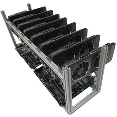 BitCoin/Altcoin Scrypt Mining Rig Frame - 8x GPU - Aria Technology