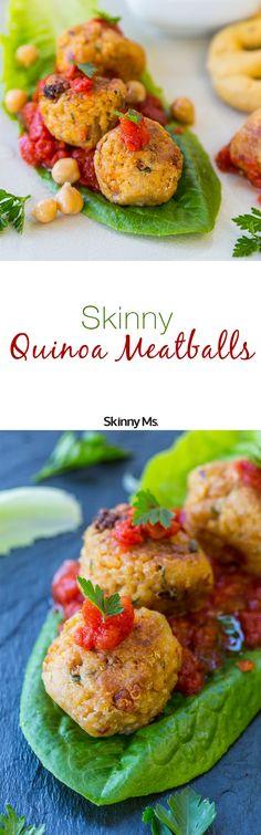 Skinny Quinoa Meatballs are a delicious and new way to use quinoa! #quinoameatballs #meatballs