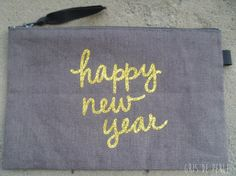 « Pochette Happy New Year or » (14,00 €)