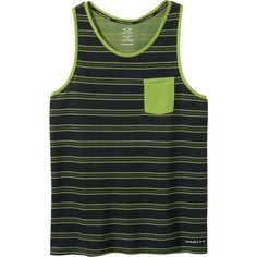 Oakley O-Stripe Tank Top ($16) ❤ liked on Polyvore featuring men's fashion, men's clothing, men's shirts, men's tank tops, mens summer shirts, mens summer tank tops, mens sport shirts, mens striped tank top and mens striped shirt
