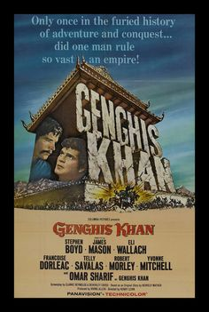 THE TWO HORSES OF GENGHIS KHAN Movie Poster   Afiches de peliculas ...