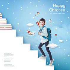 Little Librarian by Ann Price Kids Graphic Design, Creative Poster Design, Ads Creative, Web Design, Creative Advertising, Advertising Design, Social Media Poster, Social Media Design, School Advertising