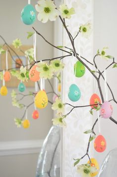 Young House Love | An Easy and Sweet Easter Egg Tree | http://www.younghouselove.com