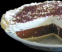 Chocolate Cream Pie Recipe - Light and delicious by James Beard, always a hit! Pie Recipes, Sweet Recipes, Dessert Recipes, Just Desserts, Delicious Desserts, Yummy Food, Holiday Pies, Holiday Recipes, Yummy Treats