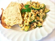 Beanies Scrambly No-Egg Brekkie  I made this delicious plant-based breakfast with home-made tofu using organic soya beans, however shop bought organic tofu is good to go for this recipe…Tofu is such a versatile food as it absorbs the flavours it's cooked with so a brilliant alternative to meat and dairy!   Please visit my site for this tasty breakfast recipe: http://www.beaniesvegankitchen.com/beanies-scrambly-no-egg-brekkie
