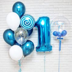 Ideas for party decoracion blue first birthdays 1st Birthday Balloons, Boys First Birthday Party Ideas, Baby Boy 1st Birthday, Carnival Birthday Parties, First Birthday Photos, Blue Birthday, Birthday Girl Pictures, Its A Boy Balloons, Balloon Columns
