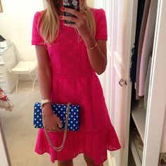 Lala Rudge - Valentino, pink with the blue/white polka dots..perfect.