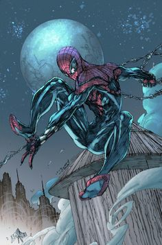 Superior Spiderman Pencils by Brett Booth Colors by Brian Skipper Colored with Photoshop and a Wacom Intuos pro. Hq Marvel, Marvel Comic Universe, Comics Universe, Marvel Dc Comics, Marvel Heroes, Comics Spiderman, Spiderman Kunst, Miles Spiderman, Comic Book Heroes