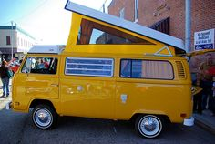 """Downtown Fall Festival, Russellville, Arkansas, October 25, 2008 From Wikipedia: """"Volkswagen Westfalia Campers were conversions of Volkswagen Type 2, also known as Transporter or Micro-Bus, from th…"""