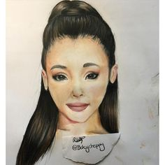 """I drew @arianagrande ! it didn't out exactly the way I hoped but I'm still really happy with it  #Ariana #arianagrande #drawing #draw #person #face #colour #colours #color #colors #problem #dangerous #dangerouswoman #fanart #art #prismacolor #pencils #pencil #prismacolorpencils #design #sketch #"" Photo taken by @bekycheppy on Instagram, pinned via the InstaPin iOS App! http://www.instapinapp.com (05/15/2016)"