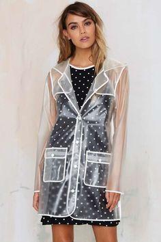 Rain coat For Women Pattern - Long Rain coat Fashion - - - Vinyl Raincoat, Plastic Raincoat, Clear Raincoat, Green Raincoat, Raincoat Outfit, Mens Raincoat, Transparent Raincoat, Cristian Dior, Raincoats For Women