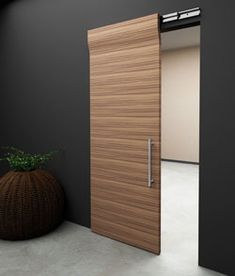 It's a simple blue door design, very suitable for office with modern building. The sliding door is adopted from Japanese door design 'shoji'...