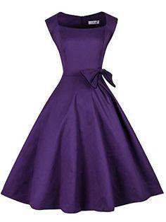 Women's Retro Hepburn Style Cap Shoulder Swing Bridesmaid... http://www.amazon.com/dp/B01DM1TXG0/ref=cm_sw_r_pi_dp_5crnxb0ZVM3TH