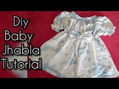 Eid frock Baby jhabla (frock) DIY| how to make baby jhabla frock cutting and stitching easy tutorial - YouTube
